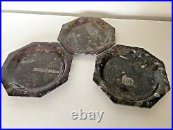 3 X Fossil Marble Specimen Plates 380 Millions Years Old