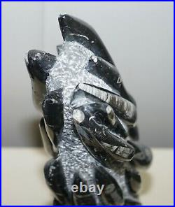 Very Large 395 Million Year Old Fossilized Orthoceras Marble Finish Art Statues